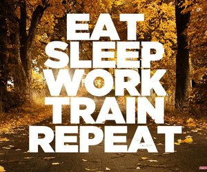 train, sleep, and eat image