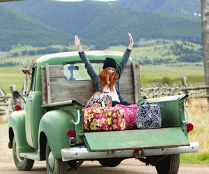 travel, car, and happy image