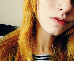 freckles, ginger, and piercing image