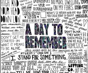 adtr, Lyrics, and a day to remember image