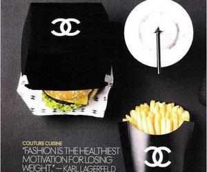 chanel, food, and black image