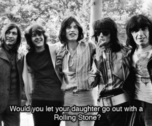 rolling stones, black and white, and the rolling stones image
