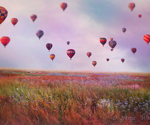 air balloons, amazing, and balloon image