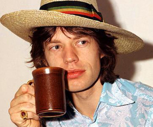 mick jagger and vintage image