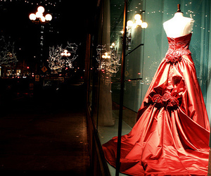 dress, red, and night image