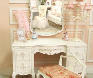 vintage, pink, and room image
