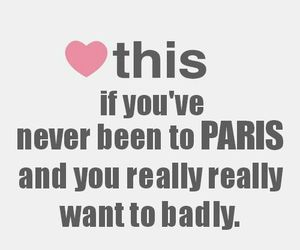 heart, paris, and quote image