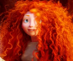 brave, disney, and hair image