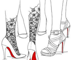 shoes, art, and louboutin image