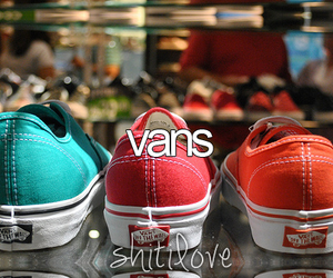 vans, red, and blue image