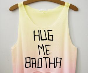 hug, shirt, and brotha image