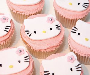 cupcakes, food, and hello kitty image