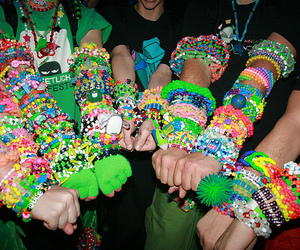bracelet, rave, and colorful image