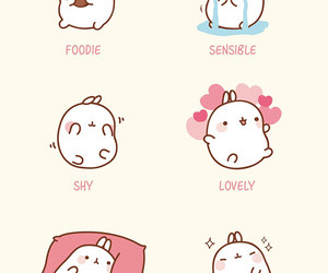 molang, kawaii, and cute image
