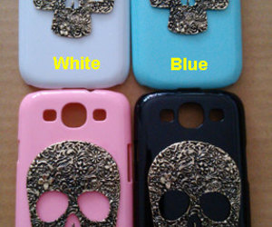 samsung galaxy s3 case and floral skull stud case image