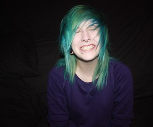 green, hair, and look image