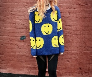 blue, sweater, and boots image