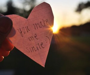 smile, heart, and text image