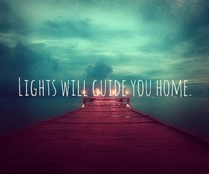 light, quote, and home image