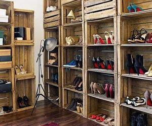 shoes, closet, and diy image