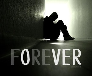 alone, broken heart, and forever image