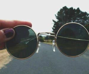 glasses, sunglasses, and vintage image