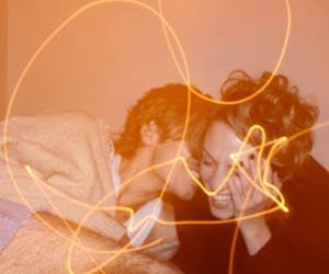 couple and light image