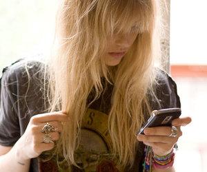 girl, Guns N Roses, and blonde image