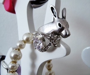 beautiful, bunny, and jewelry image