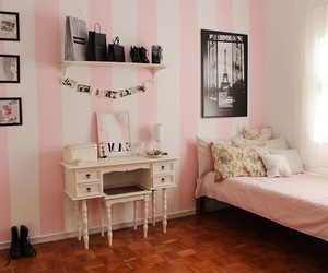 pink, bedroom, and paris image