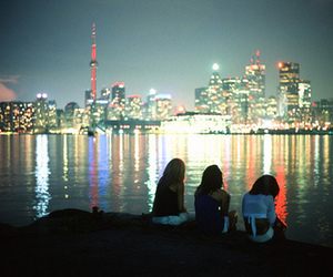 city lights and friends image