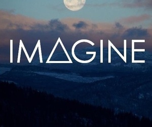 imagine, moon, and sky image