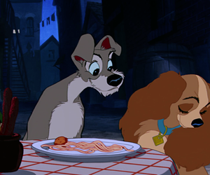 disney, dogs, and lady and the tramp image