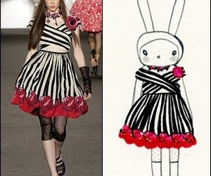 Anna Sui, black, and bunny image