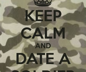 army, calm, and couple image