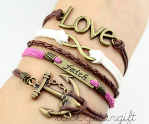 anchor, bracelet, and love image