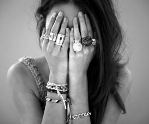 girl, rings, and bracelet image