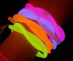 neon, pink, and bracelet image