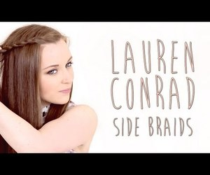 braid, lauren conrad, and side braid image