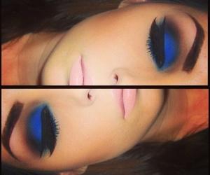 blue, makeup, and make up image