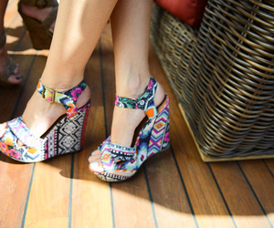 shoes, colors, and summer image