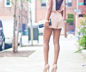 bag, heels, and black image