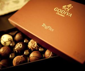 chocolate, godiva, and truffles image