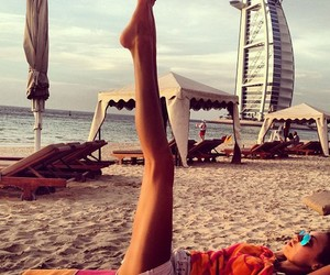 girl, beach, and Dubai image