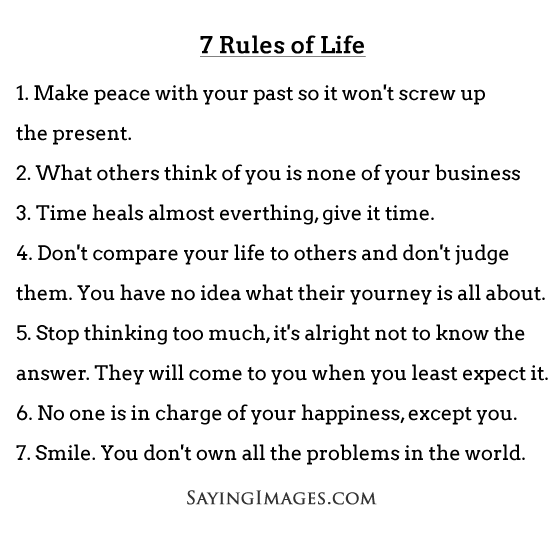 60 Rules Of Life Shared By Raise Riots On We Heart It Awesome 7 Rules Of Life Quote