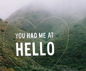 love, hello, and quote image