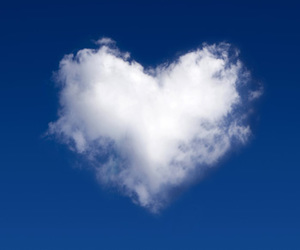 heart, clouds, and love image