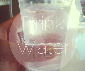 water, drink, and fitness image