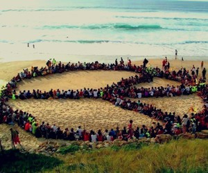 peace, people, and beach image