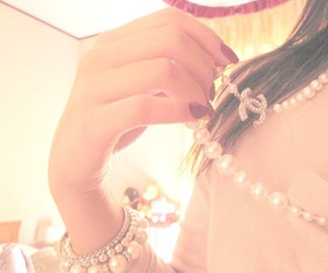 chanel, girl, and necklace image